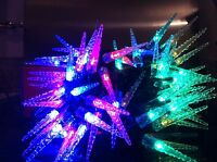 54Ft Overall 100 Multicolour Icicle Christmas Lights/8 Function/Tree/In/Outdoor