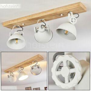Holz LED Decken Lampen Flur Strahler Wohn Schlaf Zimmer Beleuchtung 3-flammig