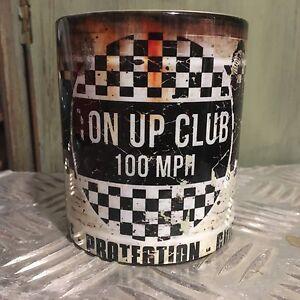 2x-Ton-Up-Club-oil-can-Mugs-Motorcycle-Car-Mechanic-11oz-Tea-coffee-Oilcan