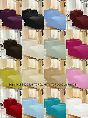 Plain Dyed Duvet Cover Pillow Cases Bedding Set Quilt Cover  Single double king