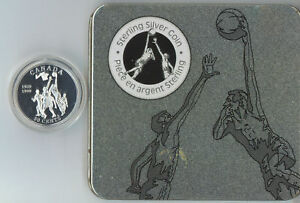 Canada-1999-Sterling-Silver-Proof-50-Cents-1939-Basketball-Tin-Case-RCM