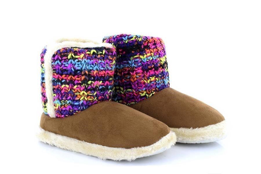 Zedzzz Millie Textile Chaude Chaussons Pantoufles bottes