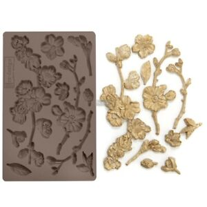 "Redesign Fragrant Roses Decor Mould Prima Mold Food Safe Resin 5/""x8/"" 644901"
