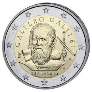 ITALIE-2-Euro-Commemorative-Galileo-Galilee-2014-UNC