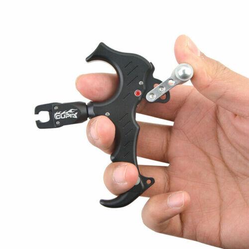Aluminum Alloy Archery Bow Release Aids 3 or 4 Finger Grip Thumb Caliper Trigger