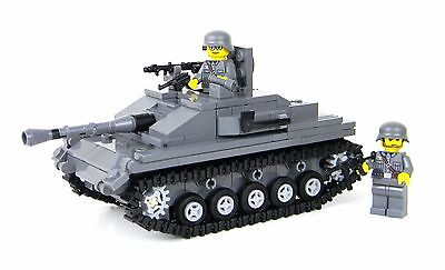 Deluxe StuG Tank German World War 2 Complete Set made w/ real LEGO® bricks