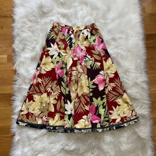 Koos Van Den Akker Floral A Line Skirt Elastic Wai