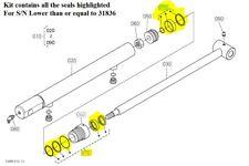 New Complete Tractor Hydraulic Seal Kits 1901-1254 for Kubota LA463 7J273-63400