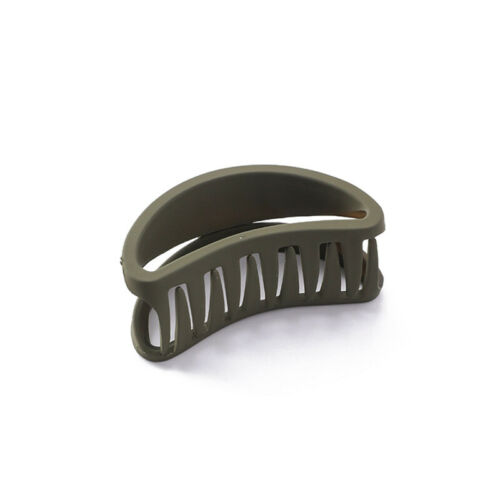 1Pc Hollow Out Curved Frosted Hair Claw Simple Bath Makeup Hair Clip Barrettes