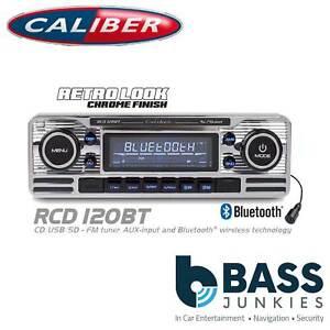 Retro Style Bluetooth Cd Mp3 Usb 75x4 W Car Stereo Radio Player