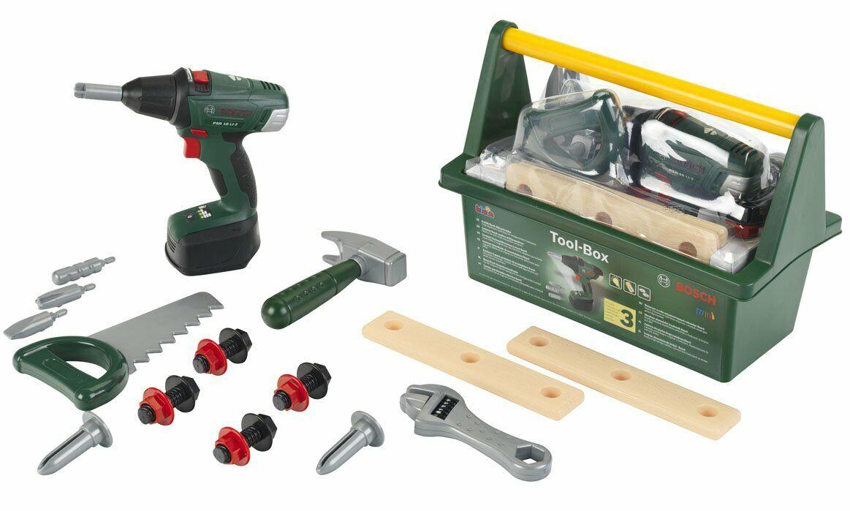 Bosch Tool Box Cordless Drill Saw Hammer Nail Screws Screws Screws Construction Building Toys 862912