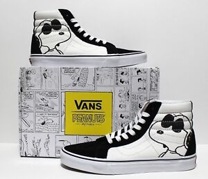 f8887597be Vans X Peanuts SK8 Hi Reissue Snoopy Joe Cool Black Men s Size 11