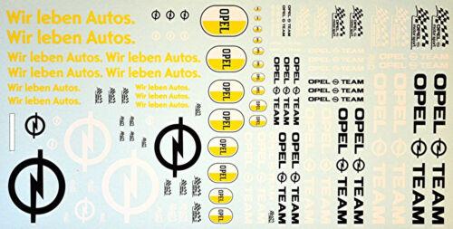 Opel #3 Sponsors Wir leben Autos Opel Team Sponsoren 1:18 Decal Abziehbilder