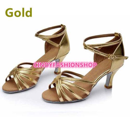 Hot Brand New Woman Ballroom Latin Tango Dance Shoes 5//7 CM Heeled Dancing Salsa