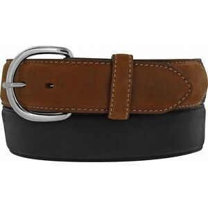 Silver Creek Western Mens Belt Leather Black Classic Made In The USA 53700