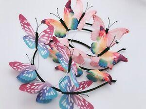 Women-Girl-Fairy-Butterfly-Woodland-Party-hair-head-band-headband-Garland-Hoop