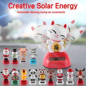 D69C Car Decor Solar Powered Dancing Animal Doll Swing Animated Dancer Toy Gift