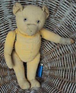 Ancien Ours En Paille Teddy Bear