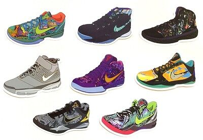 Air Zoom Kobe Bryant System Sneakers Shoes Skateboard Laptop Luggage Sticker Set