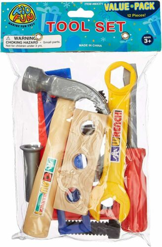 Toy Repair Tool Play Set Hammer Screwdriver Bolt Kid Children Baby Learning 12Pc