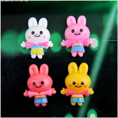 20pcs mix color Rabbit Resin flatback Scrapbooking For DIY phone //craft