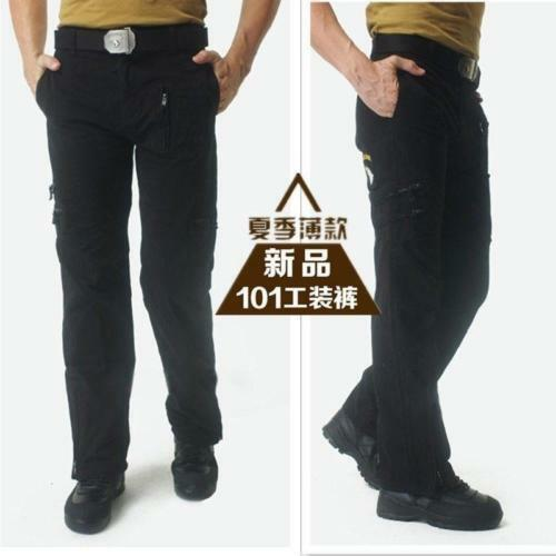 Mens Jeans Casual Plus Size Cotton Breathable Multi Pocket Military Pants Hot S