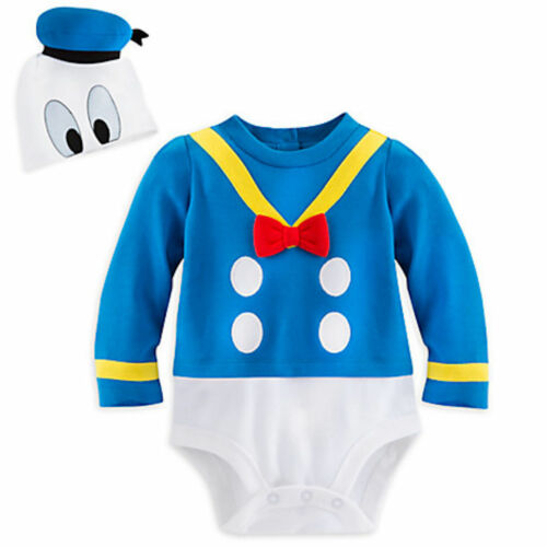 Disney Store Deluxe Donald Duck Halloween Costume Bodysuit 100/% Organic Cotton