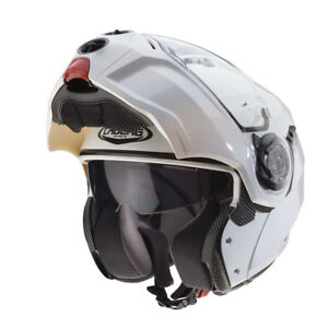 ... Caberg-Droide-Metal-Blanc-Visiere-Relevable-Modulable-Casque- e21cae3688c6