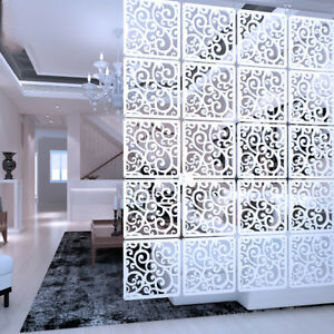 Details About 12pcs Diy Room Divider Hanging Wall Panels Decor Art Plastic Screen Partition