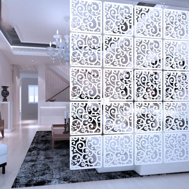 Fidgetgear Diy Room Divider Hanging Wall Panels Decor Art Plastic Screen 12pcs