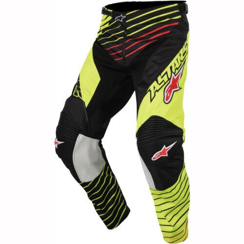 Black Yellow Alpinestars Racer Braap Pants