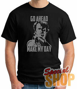 85b74dee8c842 Details about T-Shirt Dirty Harry-Go Ahead Make My Day T-Shirt Guy /  a/Straps / Boy