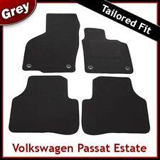 VW Passat B6 B7 2005-2015 Oval Clips Fully Tailored Carpet Car Floor Mats GREY