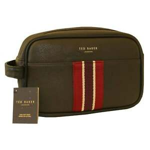 795b9505350 Image is loading Ted-Baker-Striped-Webbing-Washbag-with-Towel-Chocolate-
