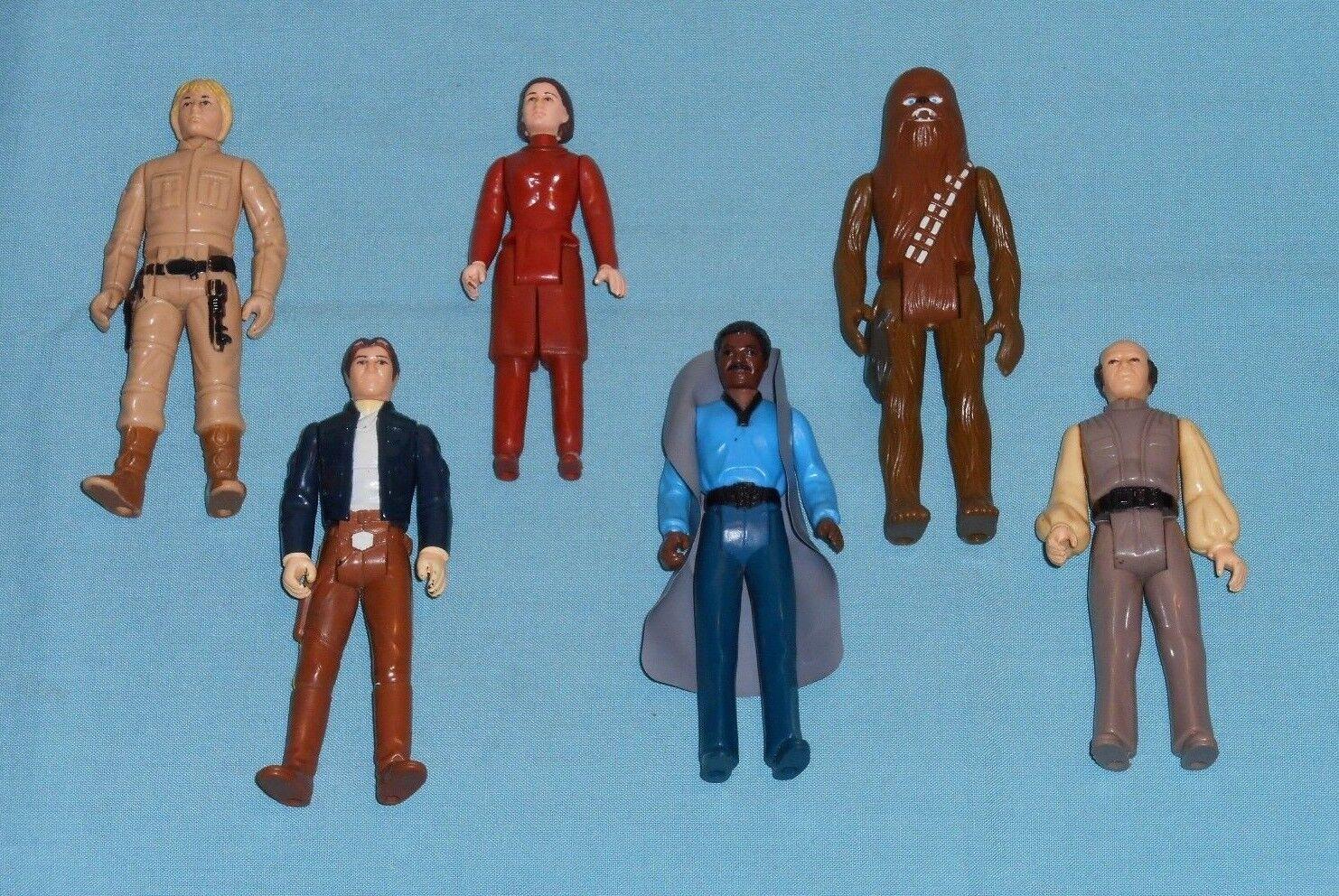Vintage STAR WARS FIGURE LOT  101 Luke Leia Han Bespin Chewbacca Lando Lobot
