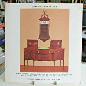1974 Sotheby Parke Bernet Americana Auction Catalog Furniture Paintings Decoys Ebay