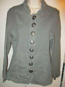 eb4b7c31b4bb0 Details about Neon Buddha Green Knit Jacket Button Art To Wear Boho Gypsy Women s  Size LARGE