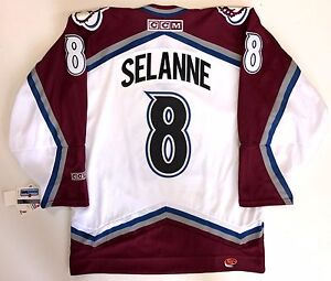 reputable site 1ed37 63e6c Details about TEEMU SELANNE COLORADO AVALANCHE ORIGINAL CCM REPLICA JERSEY  M NEW WITH TAGS