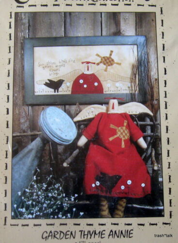 "Country Stitches Garden Thyme Annie angel doll wallhanging 17/"" applique pattern"
