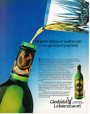 PUBLICITE ADVERTISING   1982    GLENFIDDICH   whisky