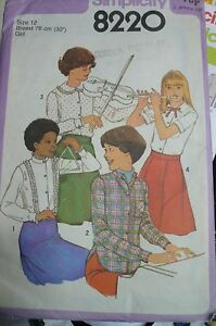 Vintage-Sewing-pattern-by-Simplicity-8220-child-size-12-years-pre-cut