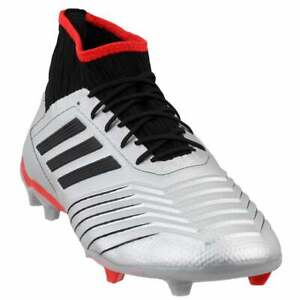 adidas-Predator-19-2-Firm-Ground-Casual-Soccer-Cleats-Silver-Mens-Size-11-D