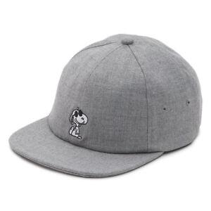 0b022257e5810 Vans Off the Wall Peanuts Heather Gray Snoopy Jockey Cap Hat ...