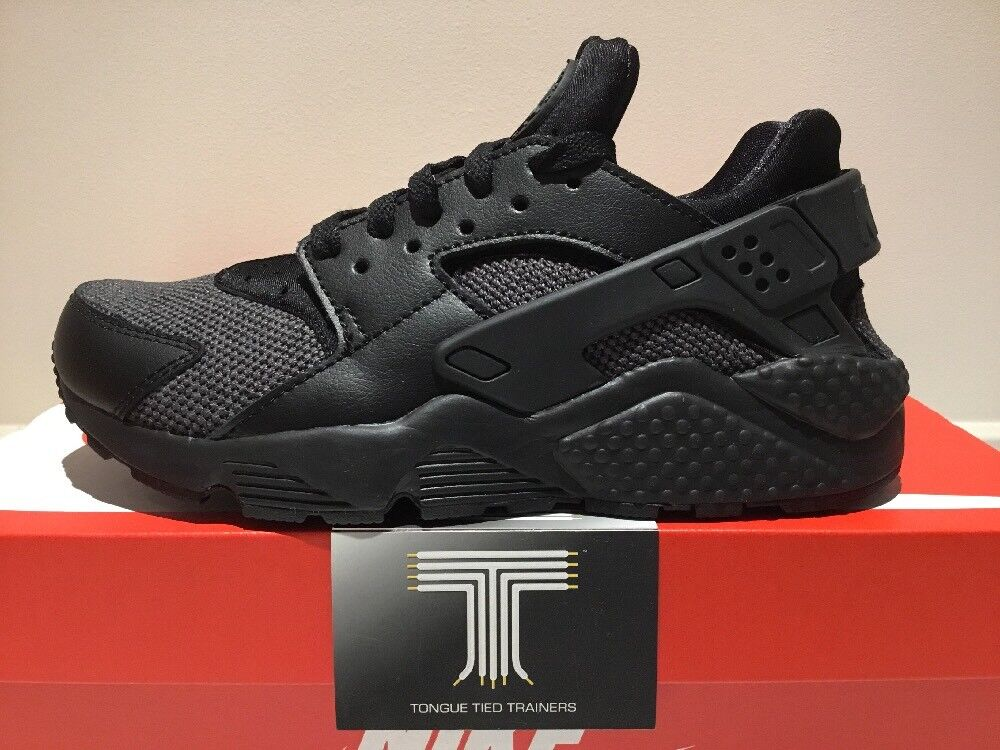 "Nike Air Huarache ""Black/Grey"" Size ~ 318429 041 ~ Size ""Black/Grey"" 6 ~ Euro 39 6b82af"