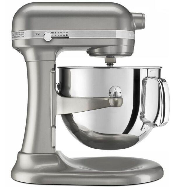 KitchenAid Rkp26m1xSR Professional 600 Stand Mixer 6-QT Metal Sugar Pearl Silver