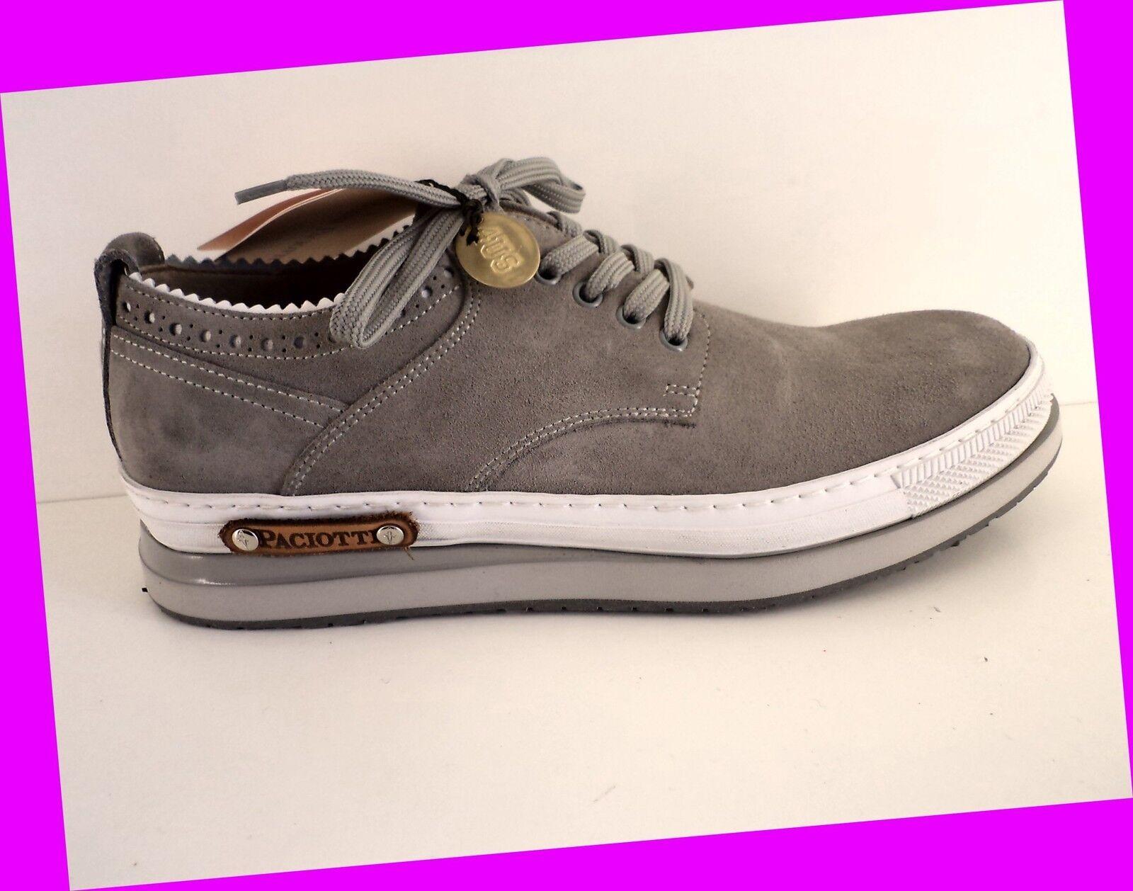 SCONTO 50 %  zapatillas PACIOTTI 4US SUMMER hombres CAMOSCIO gris ART. NU2  N°  44
