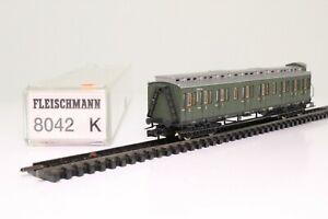 Fleischmann-8042K-Spur-N-Abteilwagen-Personenwagen-DRG-1-2-Kl-beleuchtet-OVP