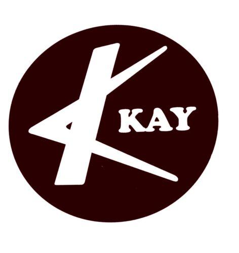 3 KAY Style Headstock /& Pickguard Logos Vinyl Self Stick B/& W,Free Shipping,New!