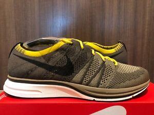 Nike Flyknit Trainer Cargo Khaki Black AH8396-300 Size 8-13 NEW 100 ... 4015a9231aca