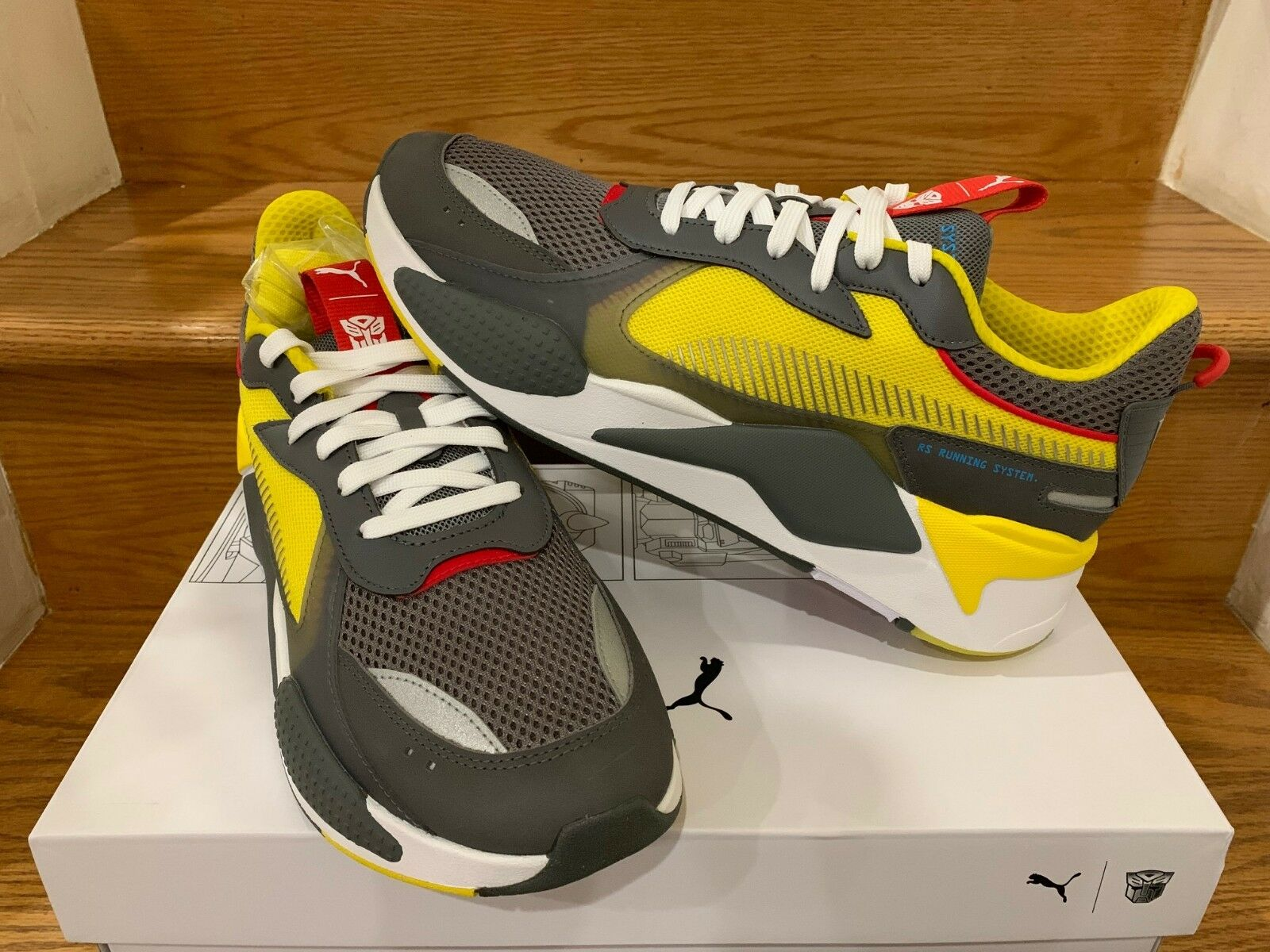 PUMA RS-X TRANSFORMERS BUMBLEBEE QUIET SHADE CYBER YELLOW 370701_02 Sz 8-13 NEW